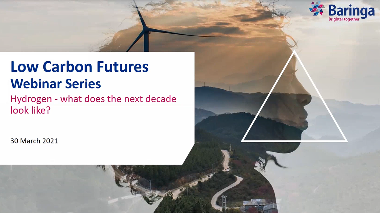 Low Carbon Futures Webinar Series: Hydrogen – what does the next decade look like?
